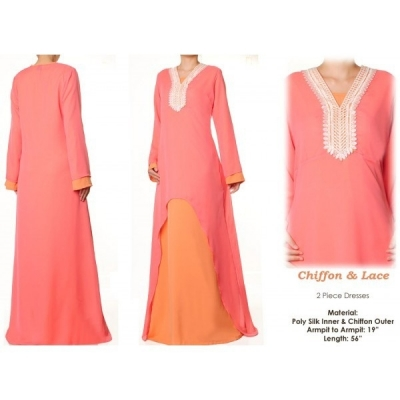 2pc Chiffon Dress