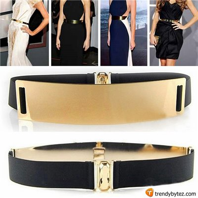 Vintage Gold Metal Plated Mirror Belt