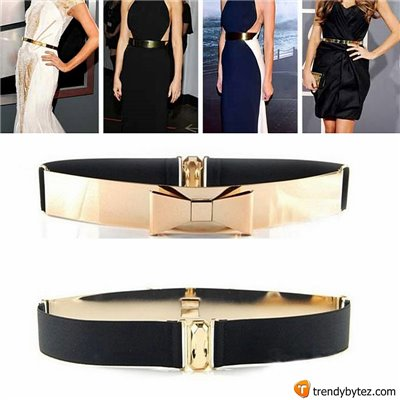 Vintage Gold Metal Plated Bowknot Belt