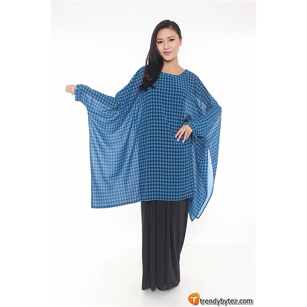 Houndstooth Kaftan Set with Smock Tube
