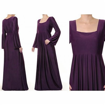 Bell Sleeved Plus Maxi Dress