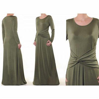Side Twist Knot Maxi Dress