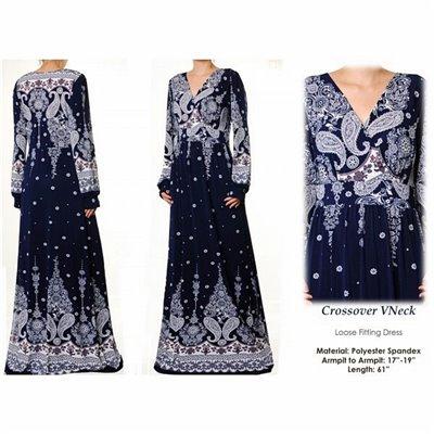 Crossover Vneck Maxi Dress