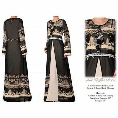 Split Chiffon Maxi Dress