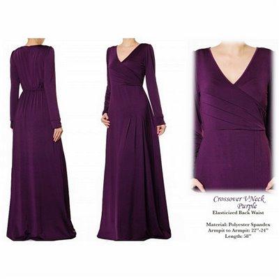 Crossover Vneck Plus Maxi Dress