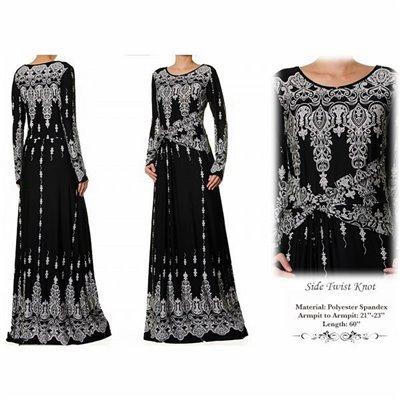 Side Twist Knot Plus Maxi Dress