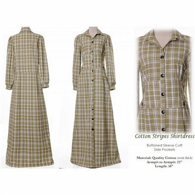 Cotton Shirtdress Plus Maxi Dress