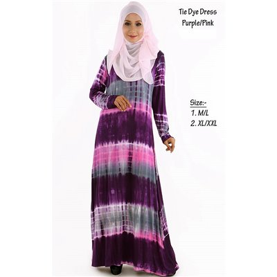 Tie Dye Jubah Dress