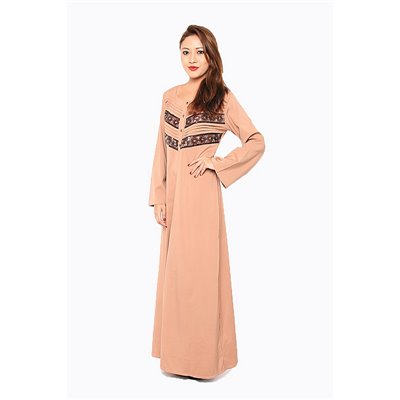 Pleats & Sequin Lace Maxi Dress