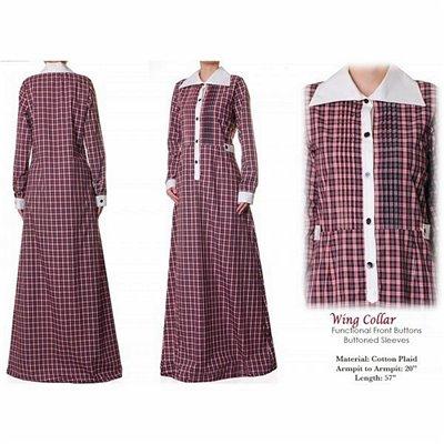 Wing Collar Maxi Dress