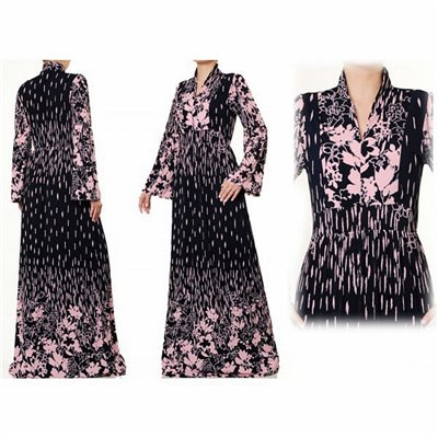 Mandarin Vneck Collar Plus Maxi Dress