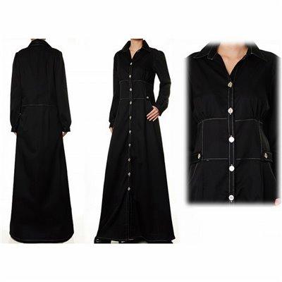 Front Button Plus Maxi Dress
