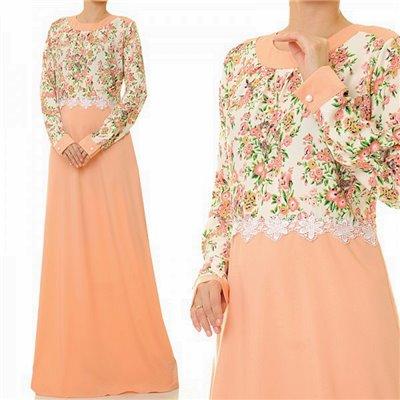 2 Tone Floral Maxi Dress