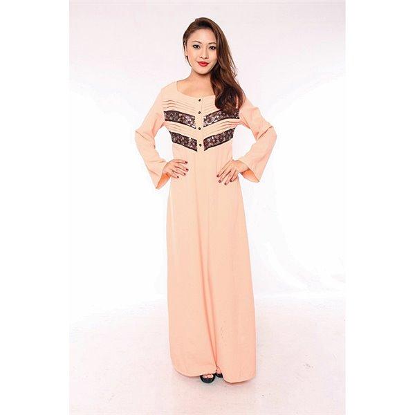 Pleats & Sequin Lace Plus Maxi Dress