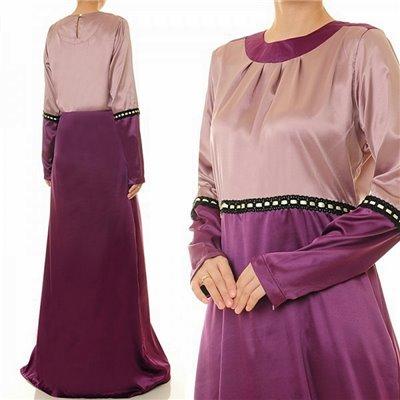 2 Tone Satin Dress