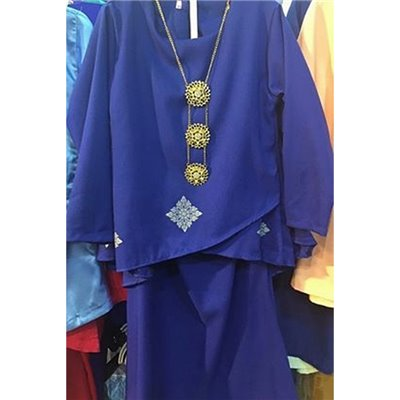 Girls Overlap Kurung Set