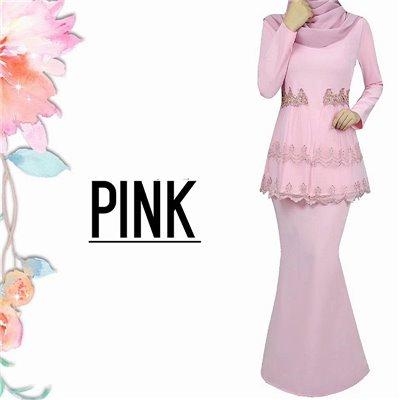 Lace Kurung - Pink